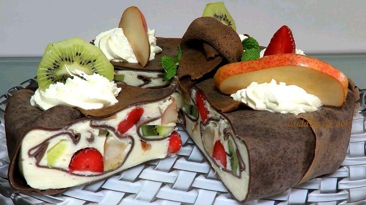 Làm bánh kếp ngàn lớp rau câu bánh Kếp socola Mousse làm bánh kem rau câ...