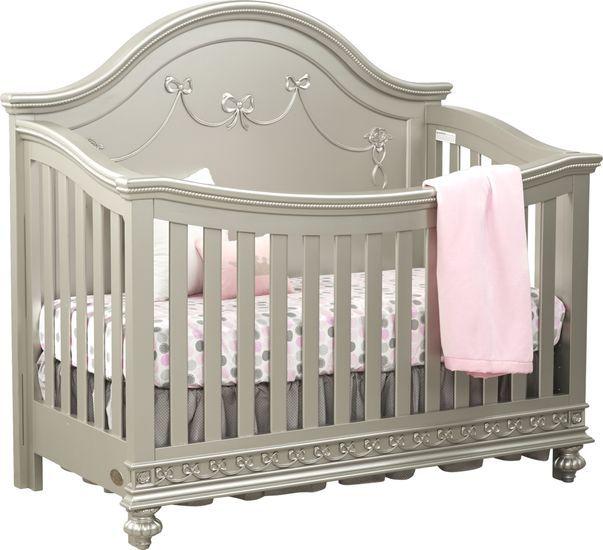 Disney Princess Silver Crib, Disney Princess Crib Furniture