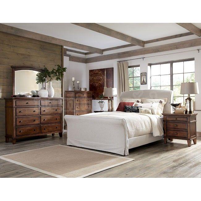 Burkesville Bedroom Set W Upholstered Bed Rustic Bedroom Pinterest Bedrooms Upholstered