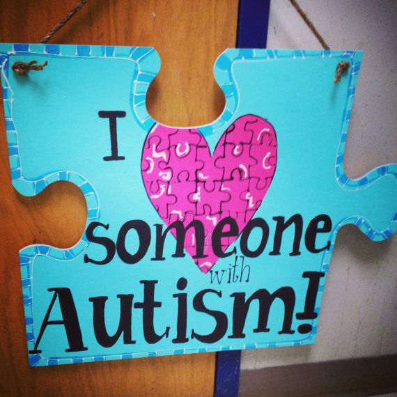 I love someone with Autism hanger. Love by CustomCreationsByAUB