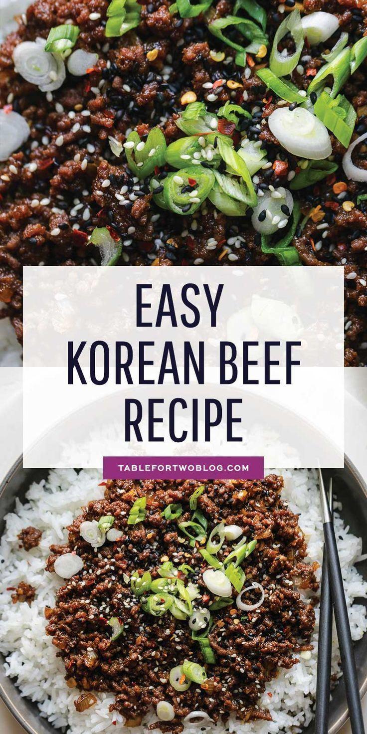 Korean Beef Easy Korean Ground Beef Recipe Healthy Beef Recipes Ground Beef Recipes Healthy Beef Recipes For Dinner