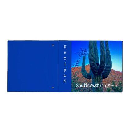 #Bright Southwest Desert Arizona Customized Binder - cyo customize do it yourself diy
