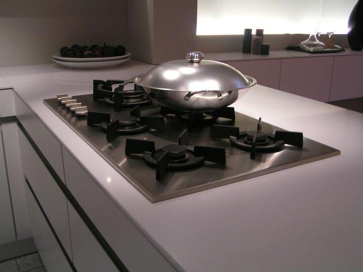 rvs kookplaat met wit blad