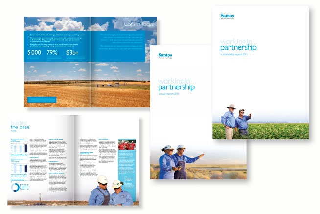 Agency: Wellmark | Client: Santos Annual Report suite 2011