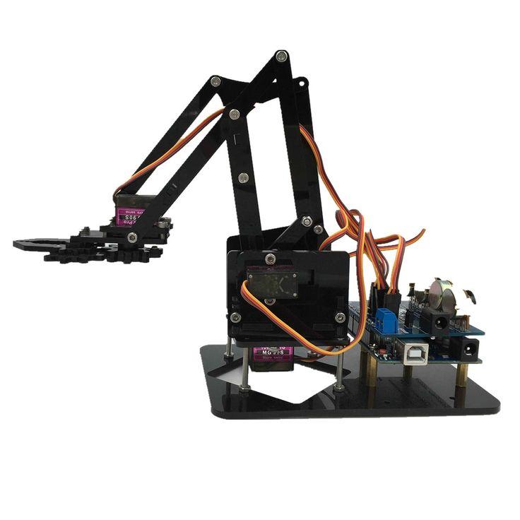DIY Acrylique robot bras griffe de robot arduino kit 4DOF jouets grappin Mécanique Manipulateur Mise À Niveau