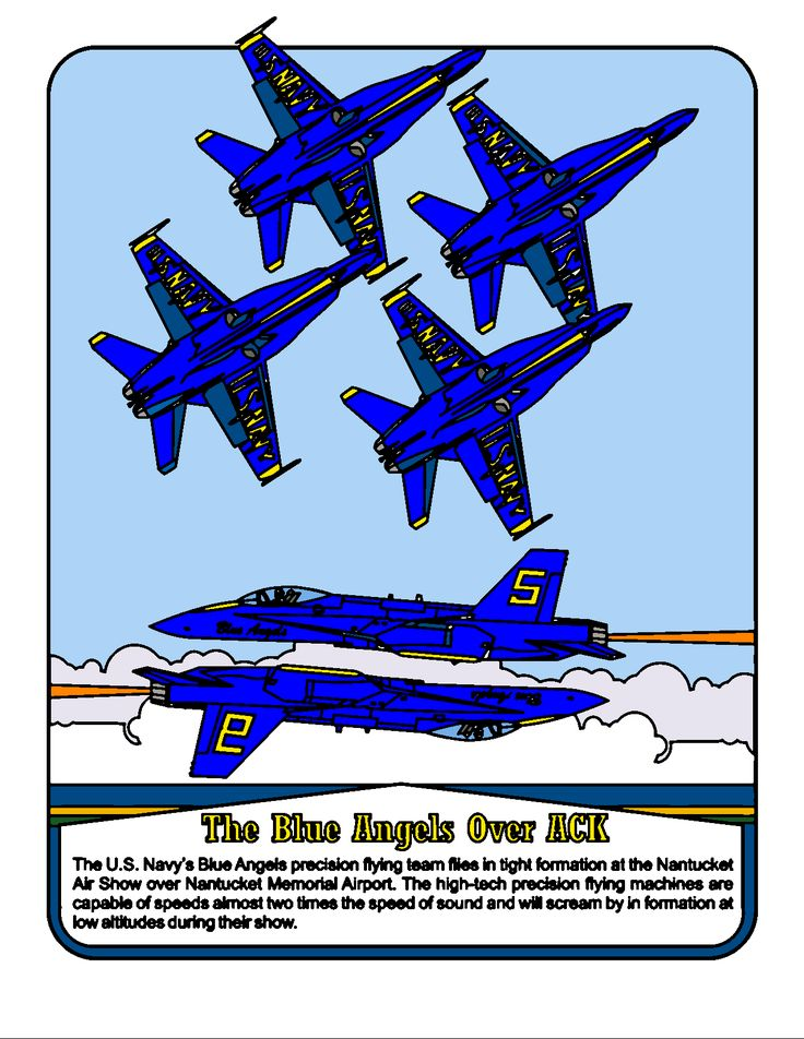 Airport Coloring Book Blue Angels Nantucket Air Show