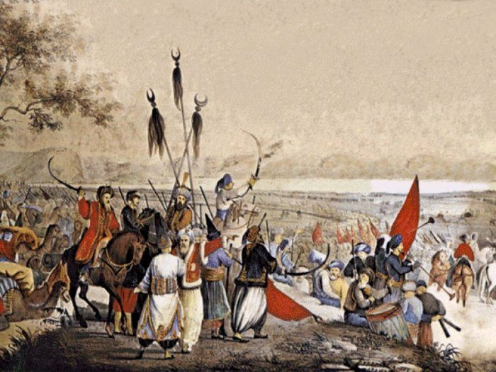 The Battle of Dervenakia (Greek: Μάχη των Δερβενακίων) was the Greek victory over the Ottoman forces on 26–28 July 1822, an important event in the Greek War of Independence. The destruction of Dramali Pasha's forces saved the heartland of the rebellion, the Morea, and secured it for the Greeks until the arrival of Ibrahim Pasha in 1825