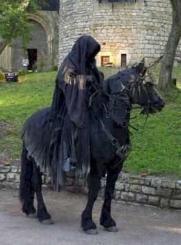 Dark Rider. I could totally pull this off with my horse!