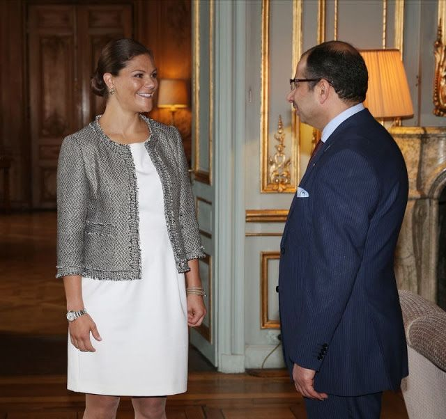 Royals & Fashion - Princess Victoria received the President of the Iraqi Parliament in audience at the royal palace in Stockholm.