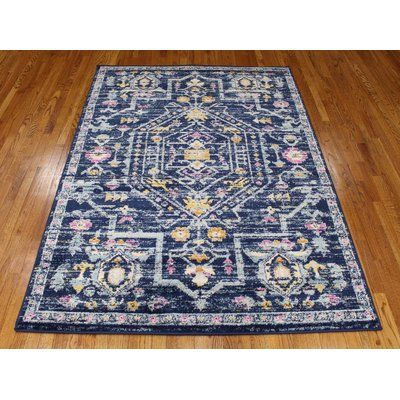 Bungalow Rose Pena Navy Area Rug Rug Size Rectangle 1 10 X 2 11 Navy Area Rug Area Rugs Rugs