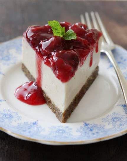cheesecake vegan 10 frutti rossi