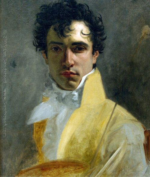 "1800's portrait of unknown man-  ""I love this painting, so soft and the way his clothing fades away. The way the light falls across is face is wonderful."""