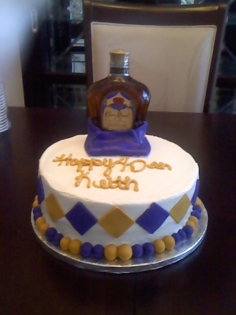 crown royal cake for Cale