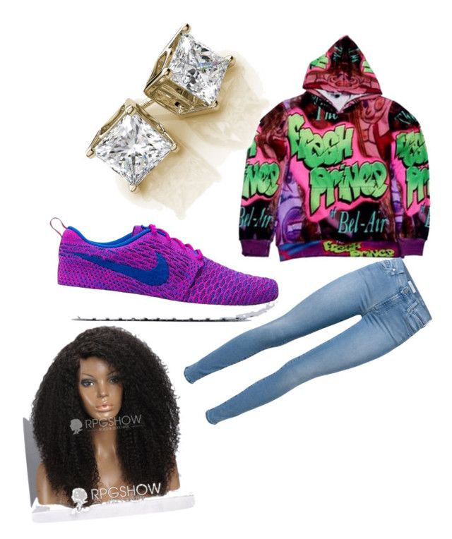 """fresh"" by kenya-dope-swag on Polyvore featuring 7 For All Mankind and NIKE"