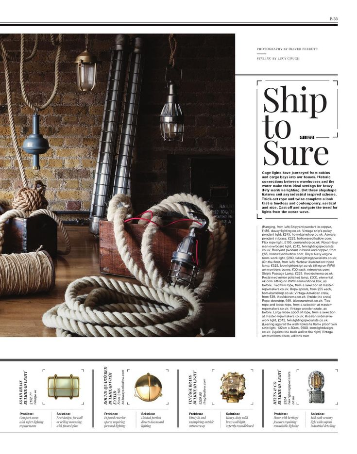 Warehouse Home Issue Three | Industrial interior | Warehouse interior | Industrial lighting | Nautical lighting | Vintage lighting | Ship lights | Industrial pendant lights | Vintage rope | Warehouse lighting | Warehouse style | Vintage bulkhead | Bulkhead lights | Industrial bulkheads | Nautical bulkheads