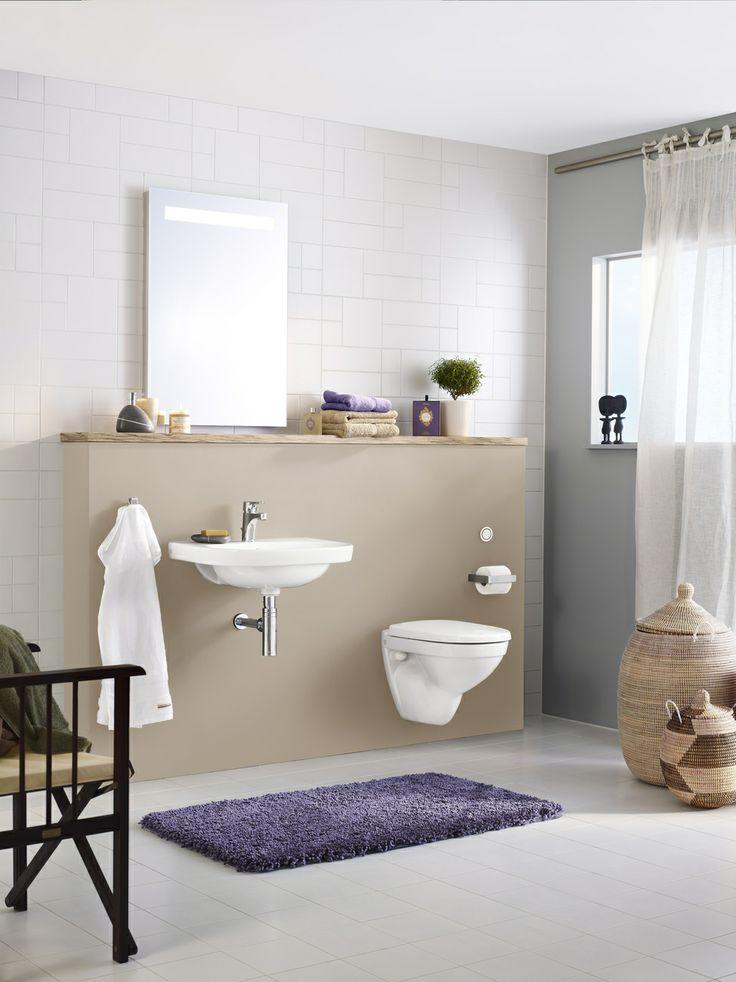 Tvättställ (> 50 cm bredd).  Snygg design och enkel att städa. | GUSTAVSBERG