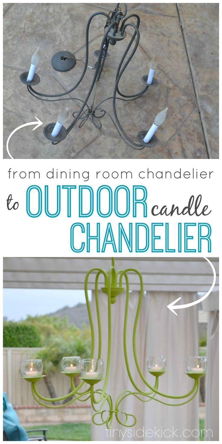 DIY Outdoor Chandelier {progress in the outdoor living room}