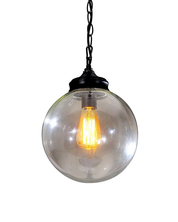 change your home flavor into a lively style by using this vintage industrial style pendant light with spherical shade in clear glass