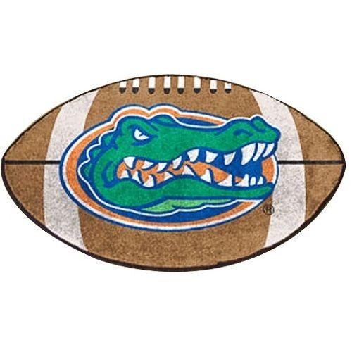 "Florida Gators Football Shaped Area Rug Floor Mat - 22"" X 35"""