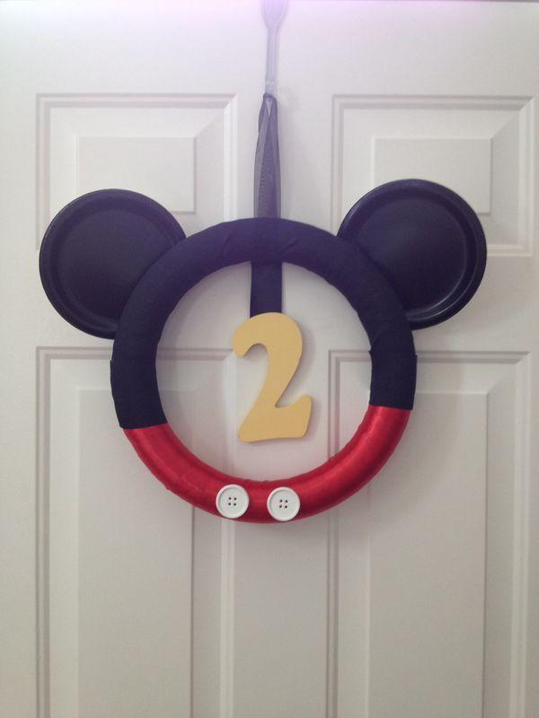 Mickey Mouse DIY wreath