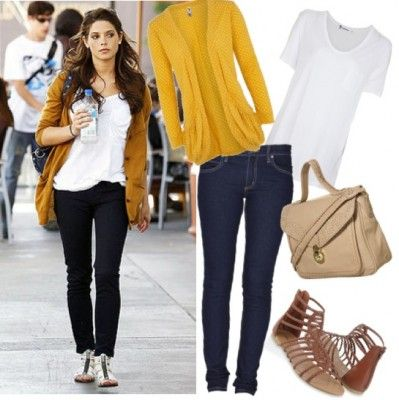 cute: Cardigans, Classy Outfit, Mab Style, Green Outfit, Baggy Cardigan, Mustard Cardigan, Macey Style, Cardigan Outfits