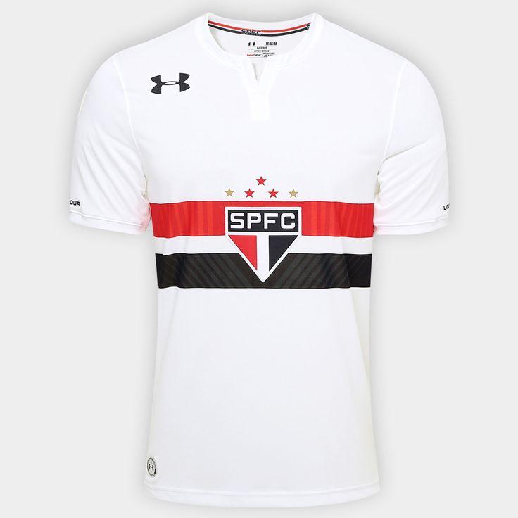 Camisa Under Armour São Paulo I 17/18 s/nº Torcedor - Branco