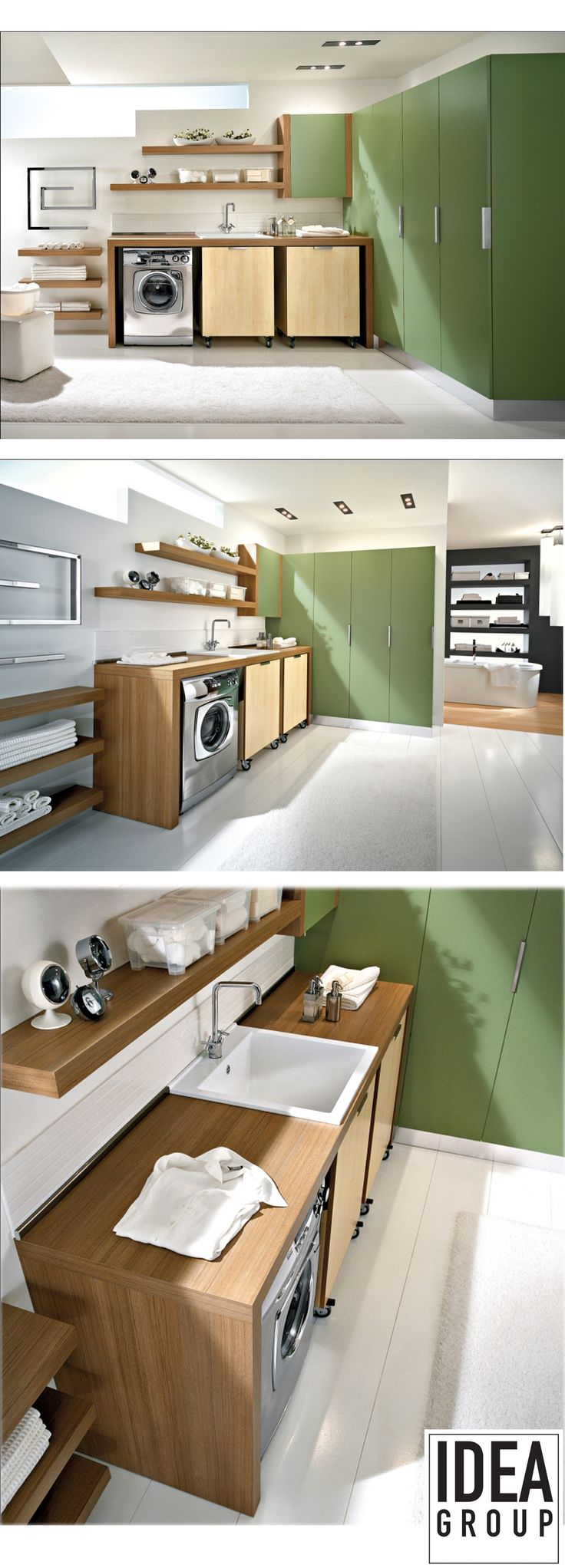 Spazio Collection by Blob #Ideagroup. Extremely versatile and customizable #laundry furniture. #Design