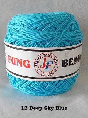 "Jual beli Benang Rajut Katun Lie Fung (12 Deep Sky Blue) di Lapak Kerochet - kerochet. Menjual Lain-lain - Catatan : Sebelum membeli/membayar, dimohon untuk terlebih dahulu bertanya ke pelapak untuk stok barang lewat pesan (inbox), dikarenakan status ""stok barang tersedia"" belum tentu sesuai dengan barang yang ada. Terima kasih.  Lie Fung sudah terkenal menjadi industri yang menjual aneka jenis benang dari dalam negeri salah satunya benang rajut katun. Benang rajut katun biasan..."