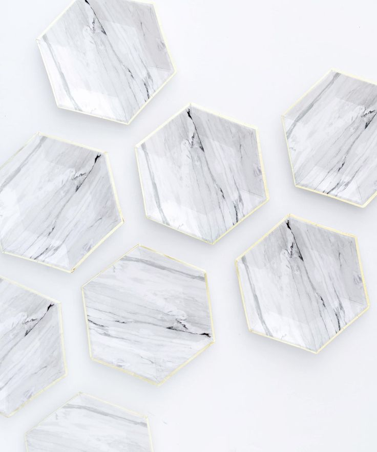Carrara Marble Party Plates – Oh Happy Day Shop
