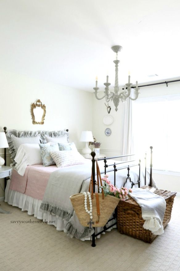 Gray And Pink French Style Bedroom French Style Bedroom Home Decor Bedroom French Country Bedrooms