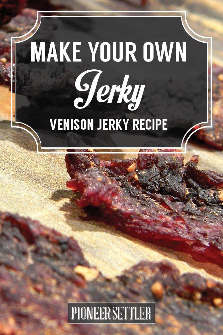 Venison Deer Jerky Recipe | DIY Jerky Recipes - Homemade Survival Food by Pioneer Settler at http://pioneersettler.com/venison-jerky-recipe/