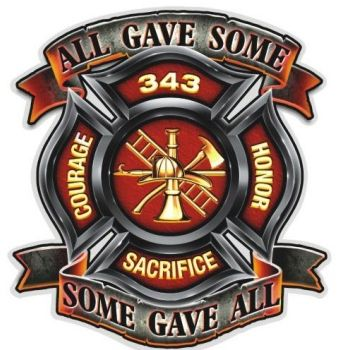Some Gave All Firefighter Decal | Firefighter Decals and Fire ...