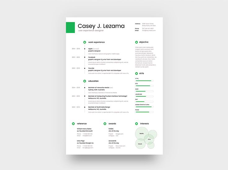 38 best Resume PSD images on Pinterest Curriculum, Resume and