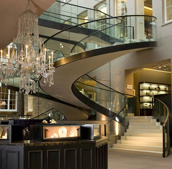 37 best luxurious stairs images on pinterest banisters for Luxury staircase design