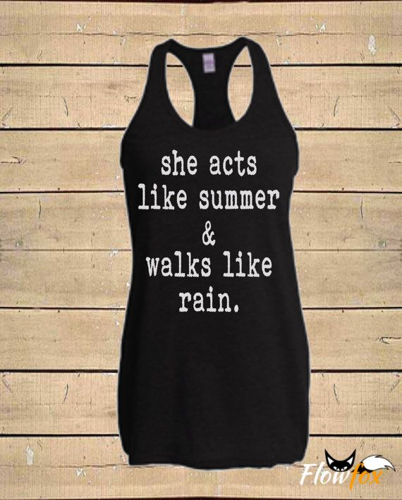 Country Shirts Southern Tanks Acts Like Summer by FlowfoxDesigns