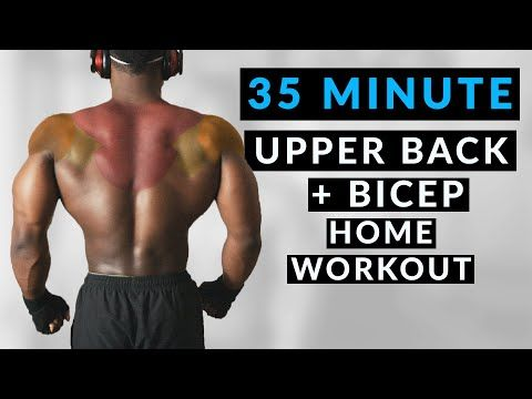 35 minute bicep and upper back home workout  no equipment