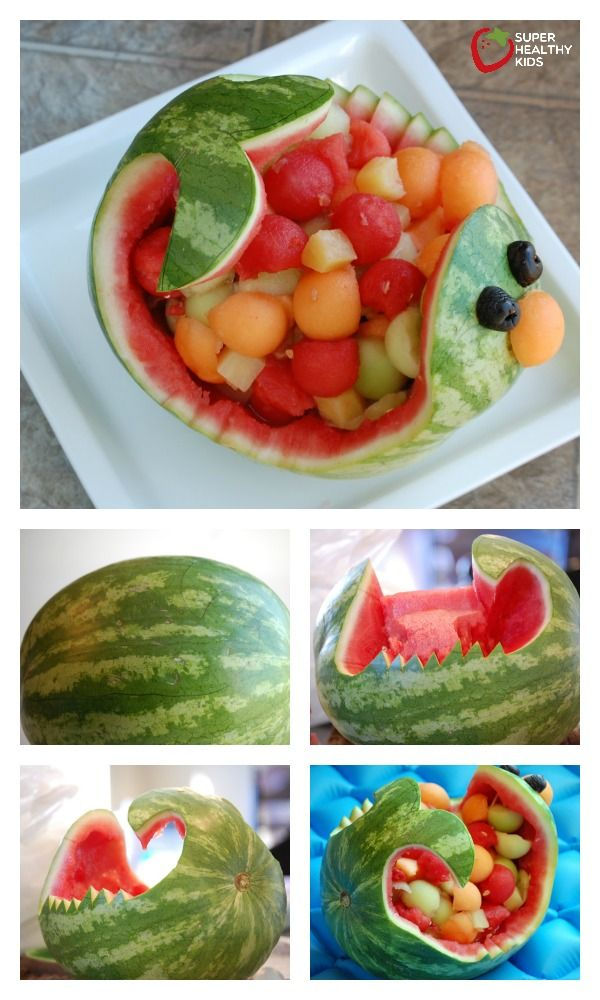 The Watermelon Whale - My dad used to make a watermelon whale for us when I was growing up! Funny how I have so many memories that revolve around food. lol :) http://www.superhealthykids.com/the-watermelon-whale/