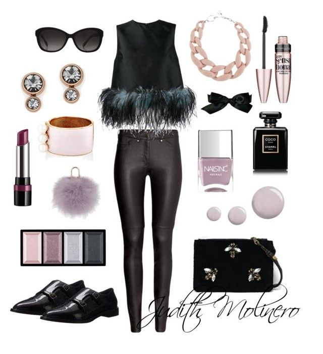 """Feather with peony"" by judith-molinero-fashion on Polyvore featuring Angela Valentine Handbags, H&M, Prada, Aquatalia by Marvin K., Maison Mayle, DIANA BROUSSARD, Nails Inc., Topshop, FOSSIL and Michael Kors"