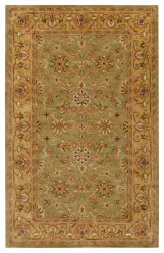 Surya Crowne crn-6001 Fern, Gold, Rust, Tan Area Rug traditional-area-rugs