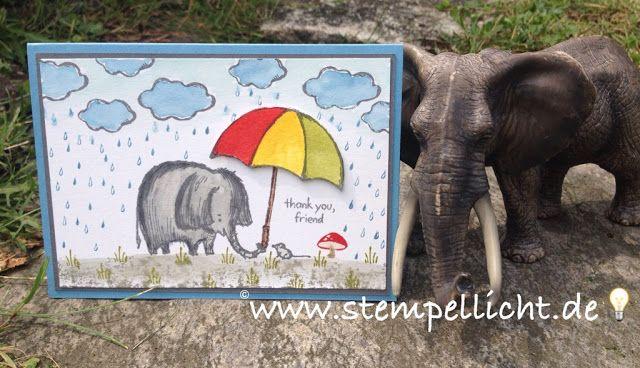 Stempellicht: Love You Lots ..... Elefant und Maus