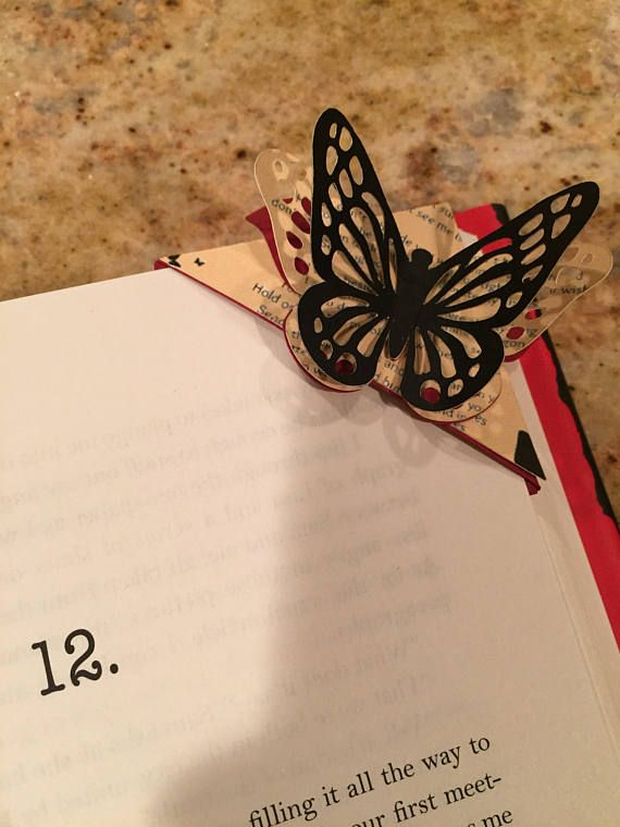 Butterfly Design Personalised Bookmark