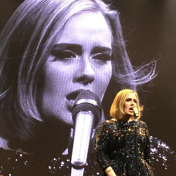 Adele performing at ''KeyArena', Seattle, WA (July, 25). I should have been there but. My. Mum. Was. Stupid. And. She. Did. Not. Let. Me. There