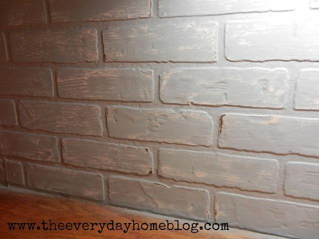 Budget friendly painted brick backsplash at cabinets kitchen white and white cabinets - Backsplash that looks like brick ...