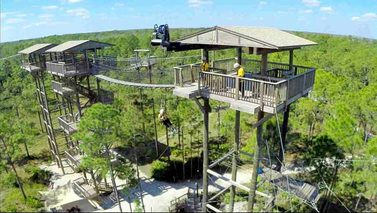 Forever Florida is a 4700 acre property that is home to the only Zipline roller-coaster in North America. It is surrounded by a pristine florida landscape. We also offer Horseback adventures and an open air tour on one of our all terrain vehicles.