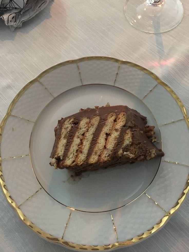 Made by me  Tortino con i biscotti mascarpone, caffè e Nutella