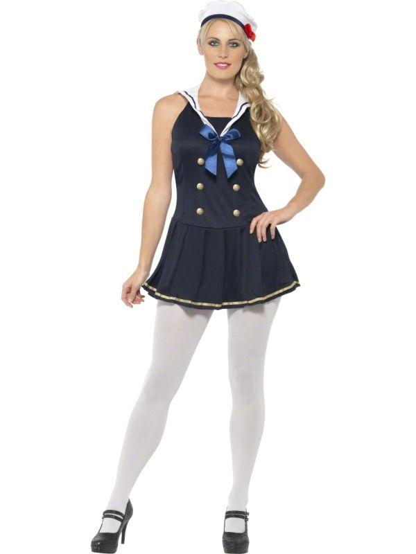 Strój Pani Marynarz, która jest niezbędna na pokładzie każdej imprezy. Doskonałe przebranie na przyjęcie w stylu mundurowym, żeglarskim lub bal karnawałowy.