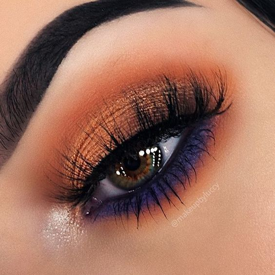 Colorful Eye Makeup This season trend, dark tinted headlights, replaced with brightly colored.