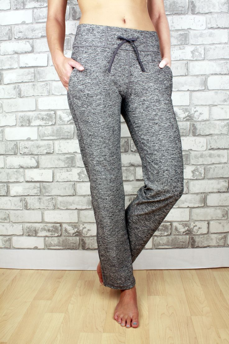 Scarlett in grey with two pockets, petite length, and drawstring