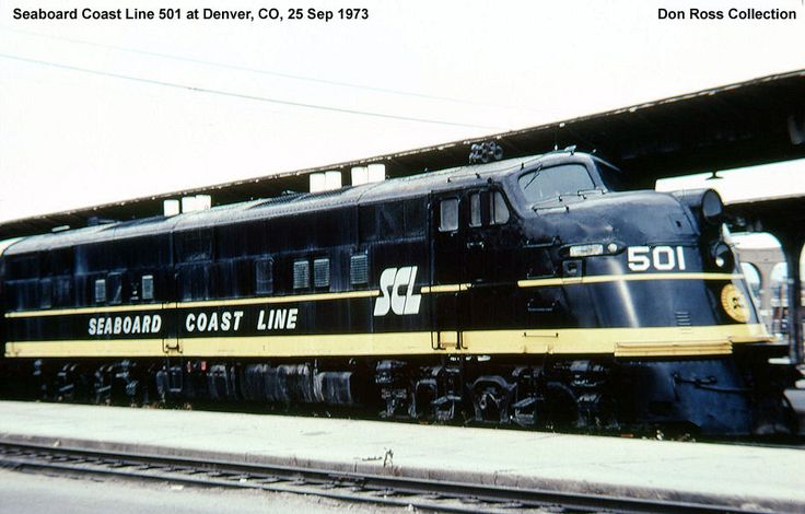 Seaboard Coast Line RR  501, E6A, was built in November 1939, #959, FN E335-A1, as Atlantic Coast Line 501, Class DEP.  It was built as E3A but it was wrecked before it was delivered.  It was rebuilt as E6A.  It became SCL 501 in July 1967 and retired in 1970.  It was sold to Glenn Monhart and restored as ACL 501.  It was sold to North Carolina Department of Transportation in 1998 and leased to North Carolina Transportation Museum.
