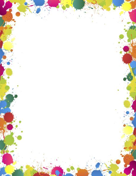 Printable paint splatter border. Use the border in Microsoft Word or other programs for creating flyers, invitations, and other printables. Free GIF, JPG, PDF, and PNG downloads at http://pageborders.org/download/paint-splatter/